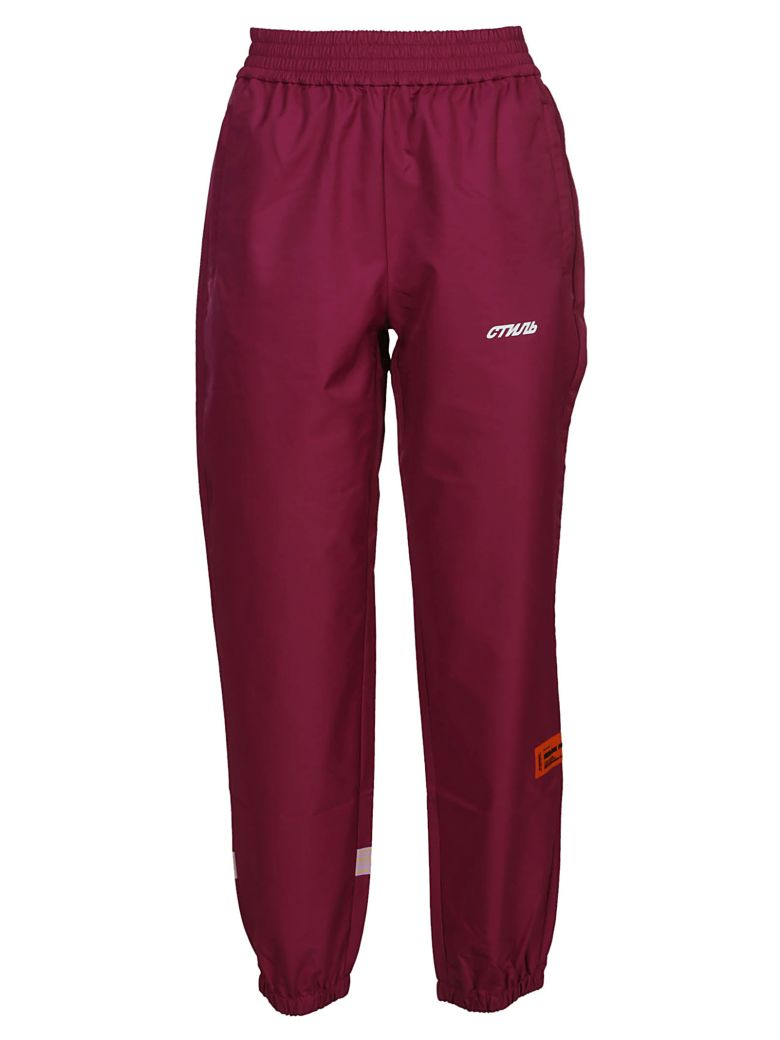 HERON PRESTON Logo Track Pants - Purple