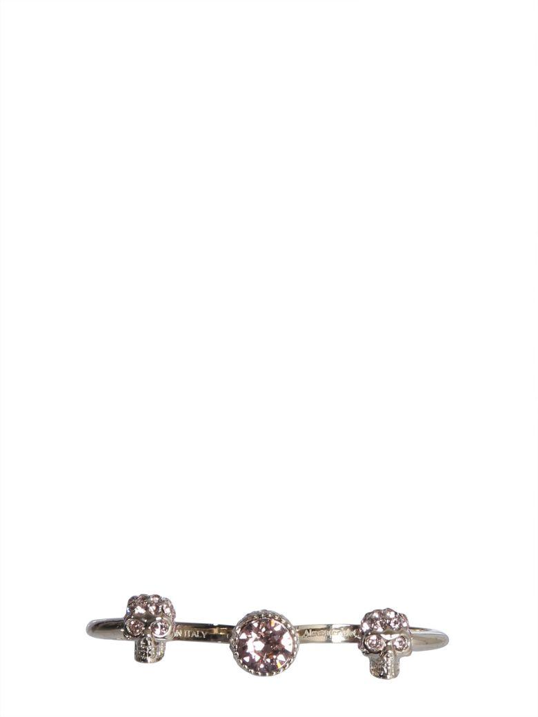 Alexander McQueen Double Skull Ring - Multicolor