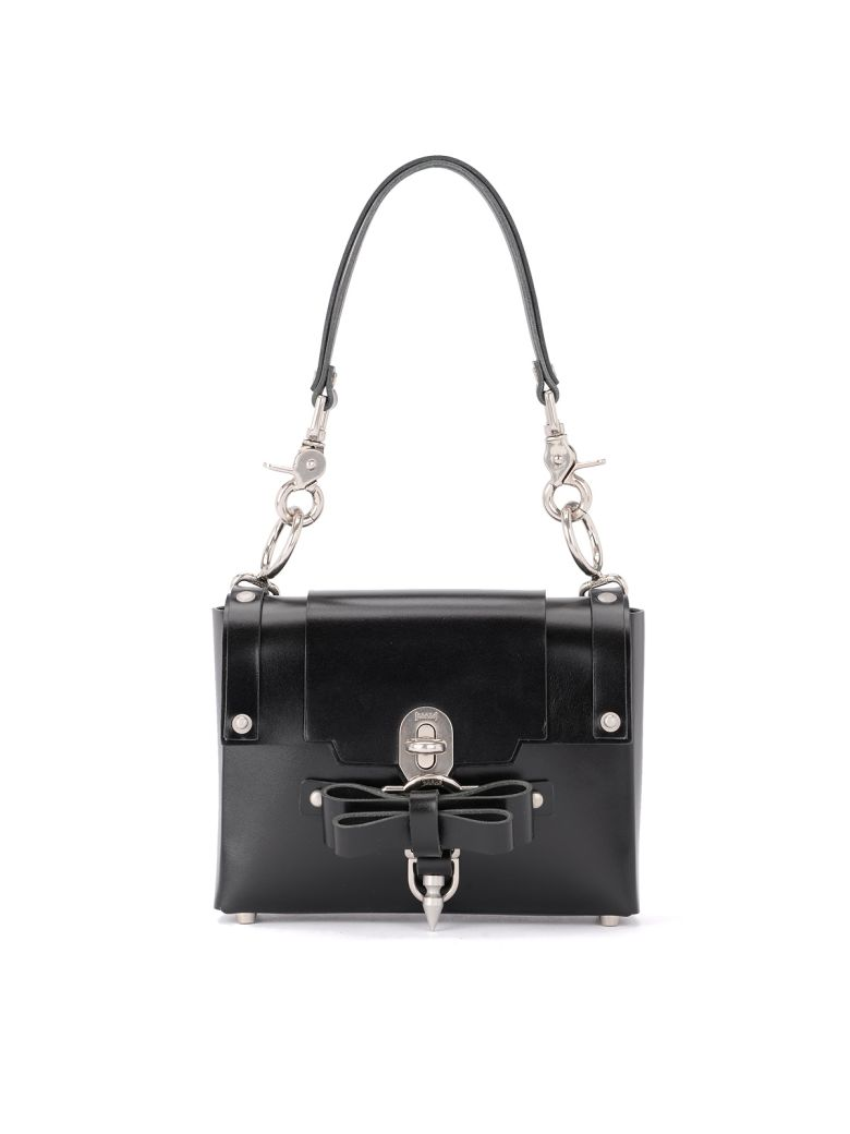 Niels Peeraer Bow Buckle Small Black Leather Bag - Black