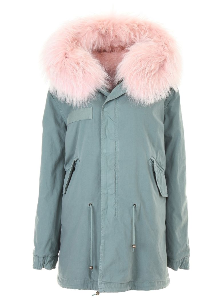 Mr & Mrs Italy Midi Parka With Fur - PINK MOUSE ALB.PINK (Pink)