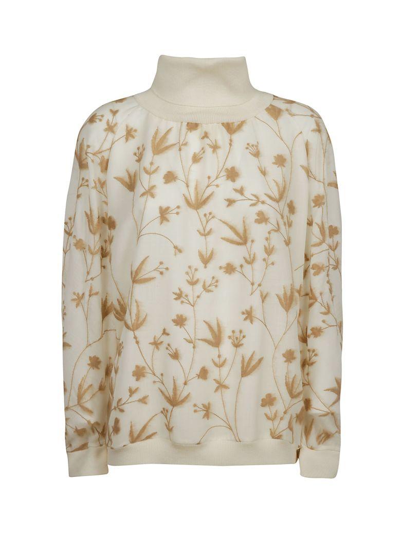 Agnona Turtleneck Sweatshirt - White