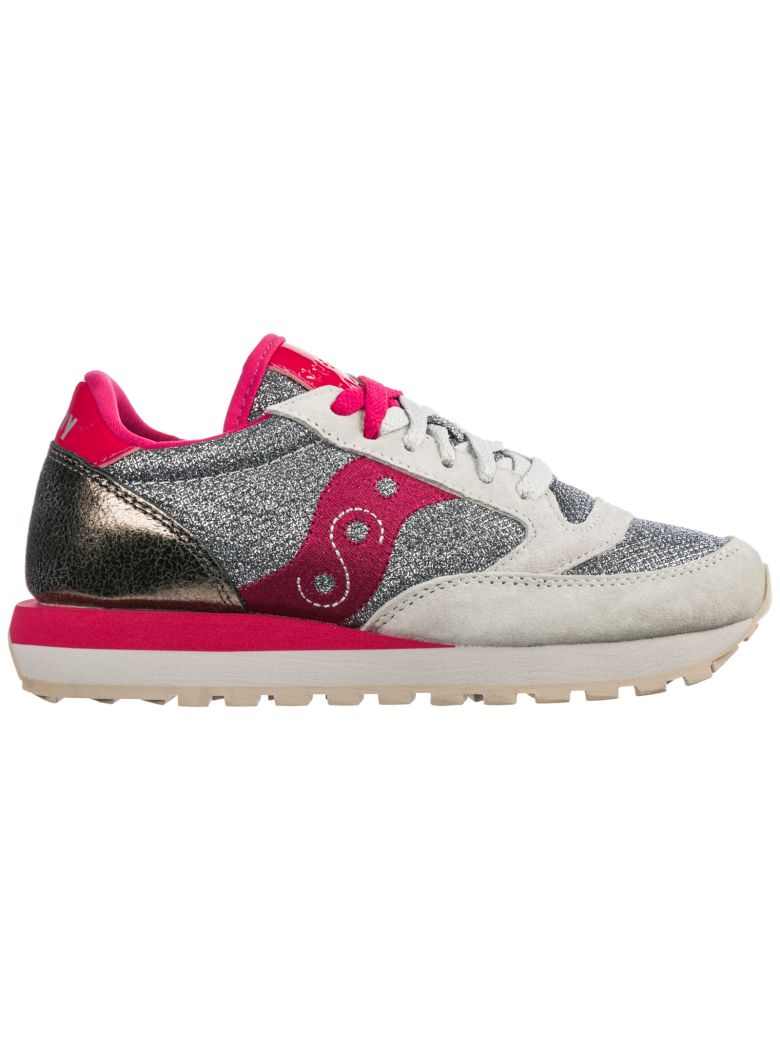 Saucony  Shoes Suede Trainers Sneakers Jazz O Sparkle - Silver