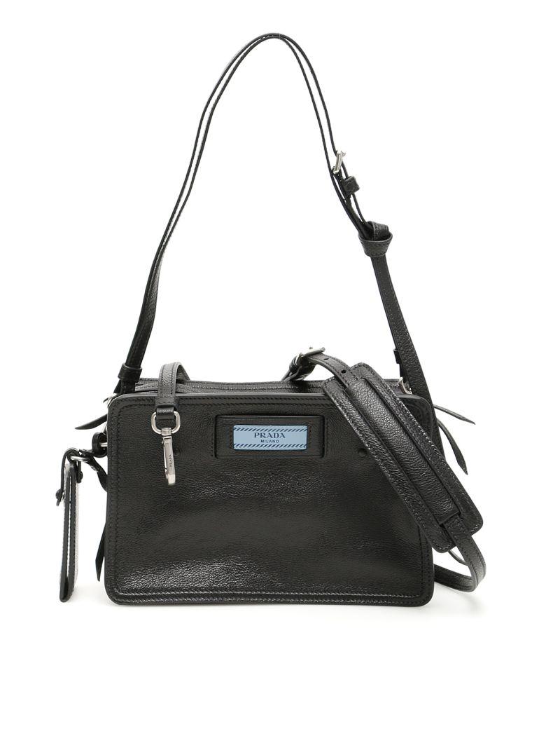 Prada Etiquette Logo Camera Bag - NERO ASTRALE (Black)