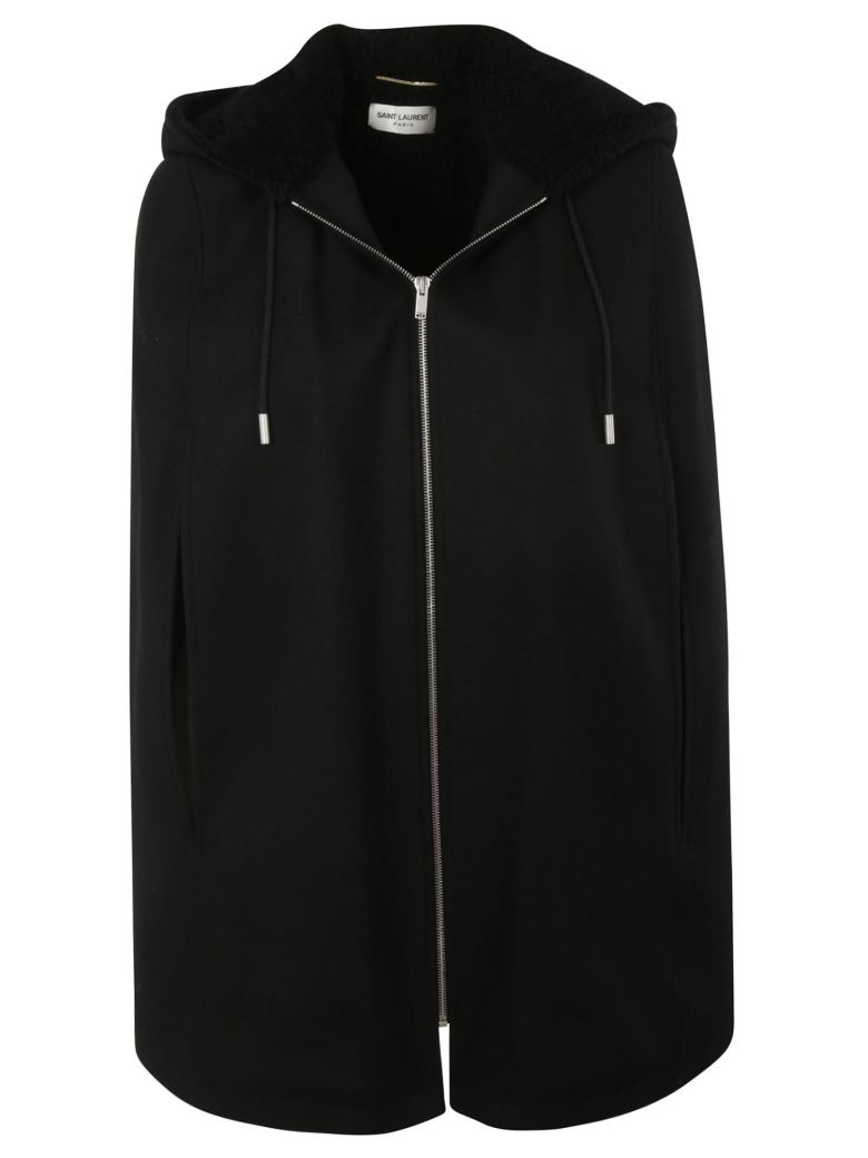 Saint Laurent Zip-up Cape - Black