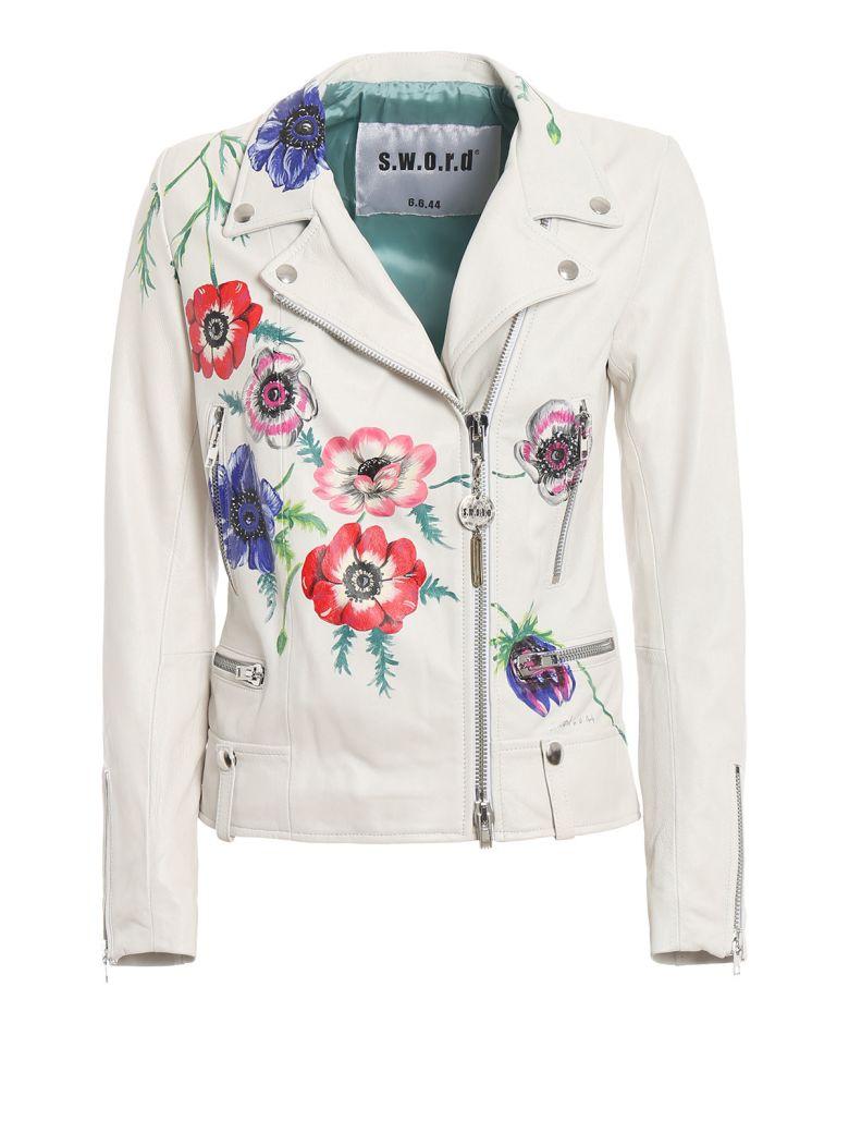 S.W.O.R.D 6.6.44 Floral Print Biker Jacket - Nappa Bianca
