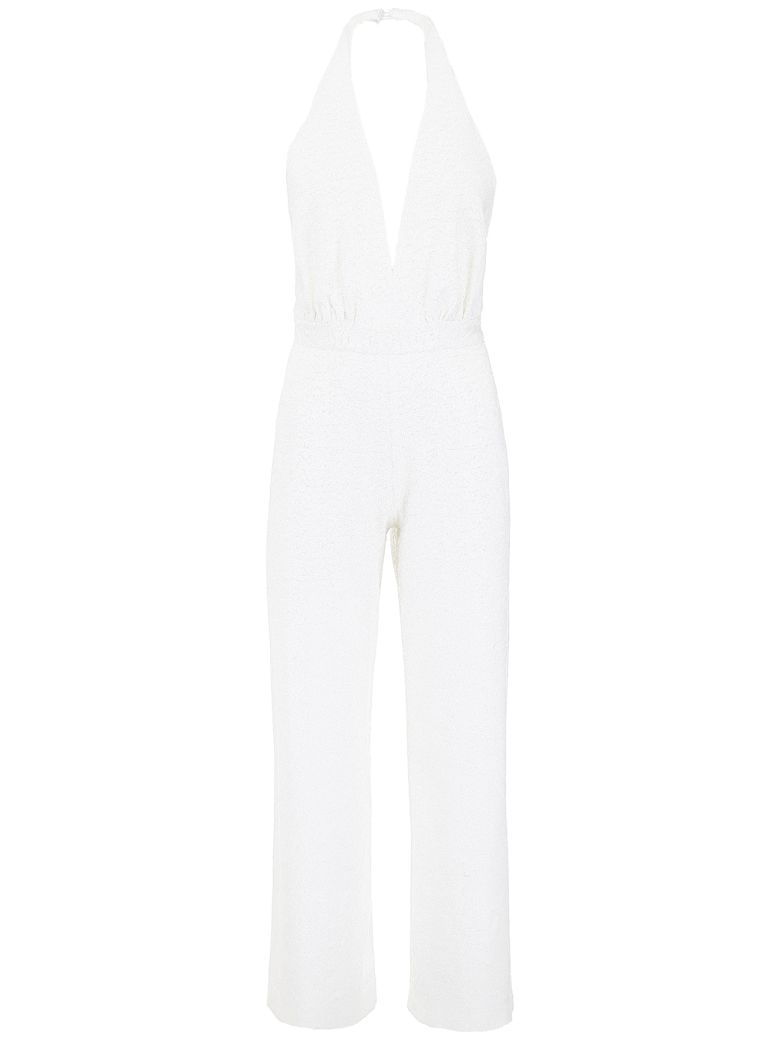 In The Mood For Love Micro Sequins Jumpsuit - WHITE (White)
