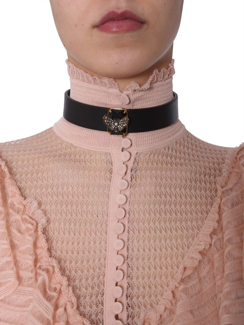 Alexander McQueen Choker With Butterfly - NERO
