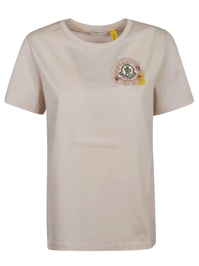 Moncler Genius Ribbon Embellished T-shirt - Beige
