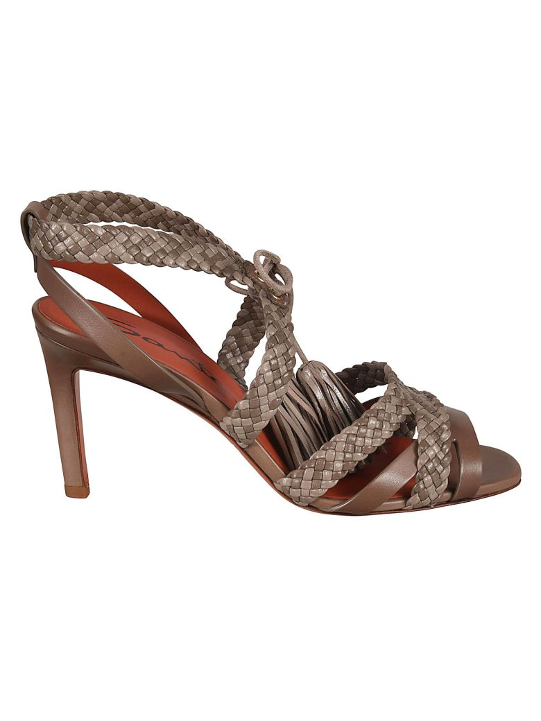 011aa3fbfe08 Santoni Santoni Braided Sandals - Brown - 10871504