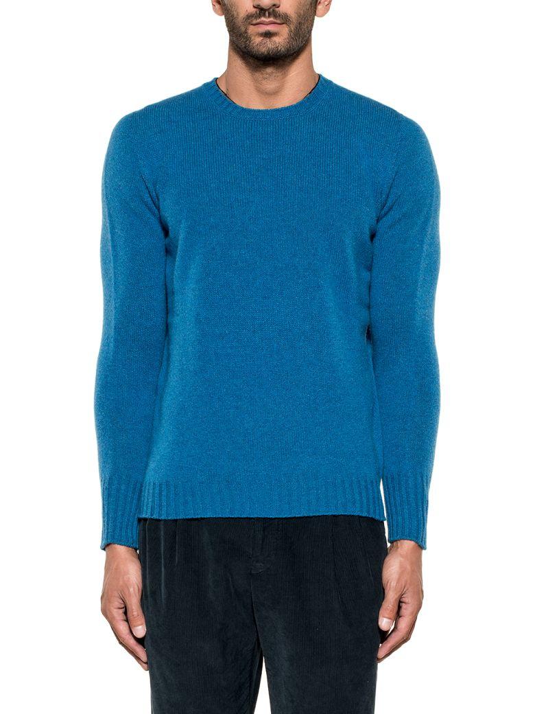 Drumohr Cobalt Wool Sweater - Blue
