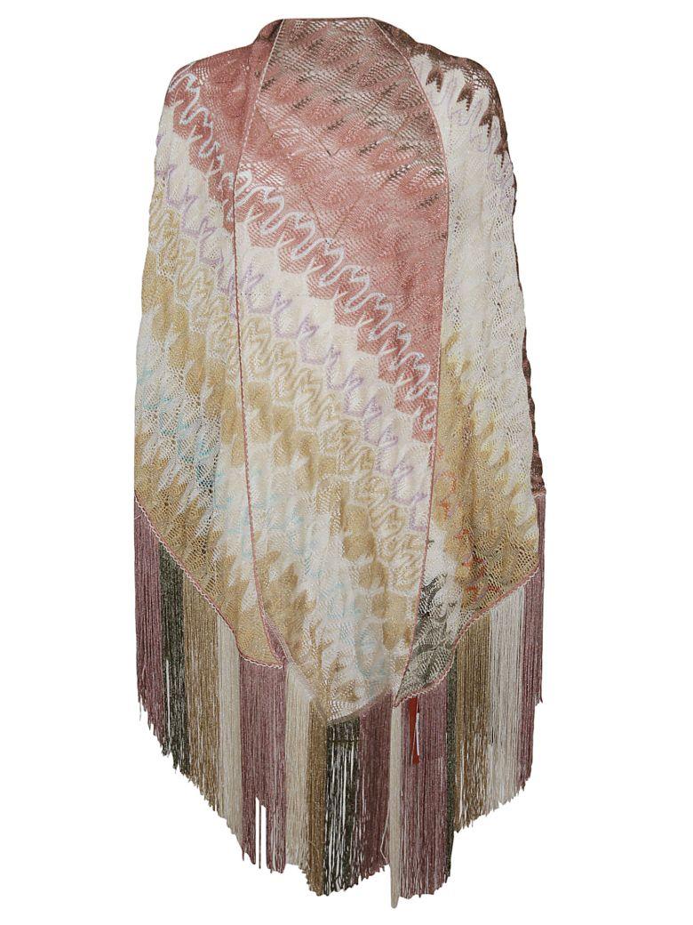 Missoni Knitted Shawl Scarf - A