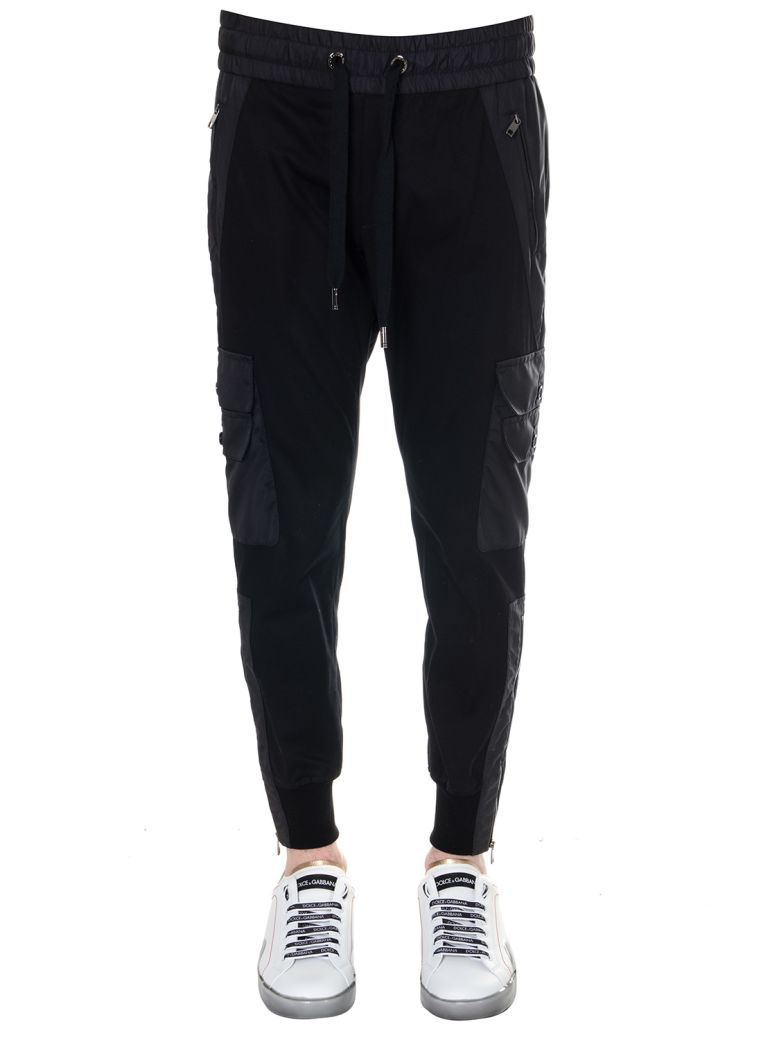 Dolce & Gabbana Black Cotton Jogging Pants - Black