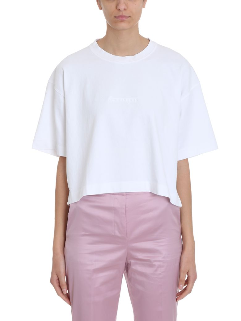 Acne Studios White Cotton T-shirt 28 Cylea Emboss - white