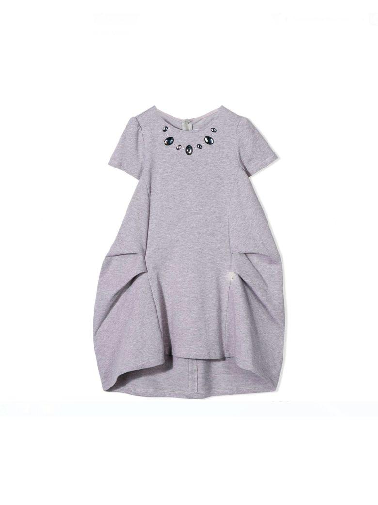 Simonetta Gray Dress Kids - Unica