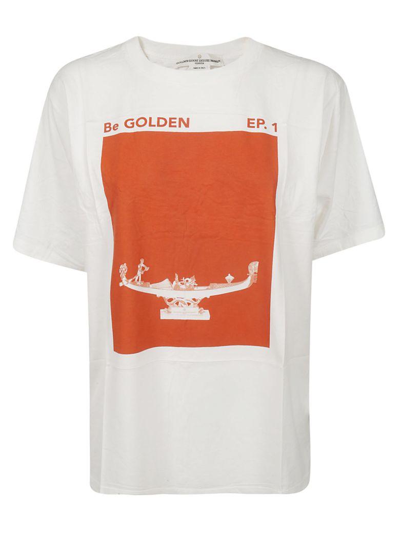 Golden Goose Cindy T-shirt - White/orange