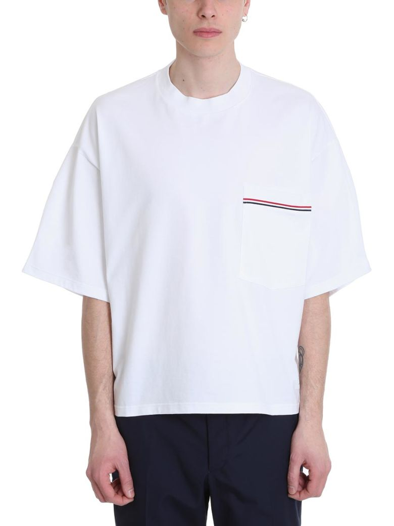 Thom Browne White Cotton T-shirt - White