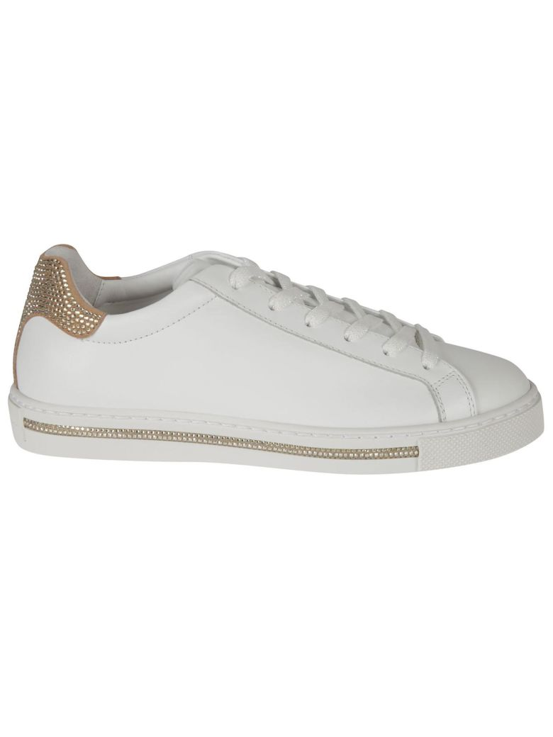 René Caovilla Xtra Sneakers - WHITE CALF/SUEDE