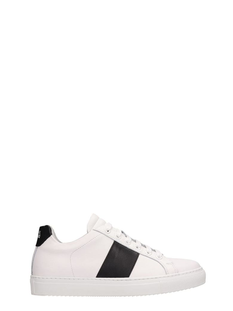 National Standard White Leather Sneakers - white