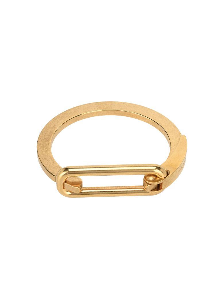Saint Laurent Carabiner Logo-engraved Bracelet - GOLD