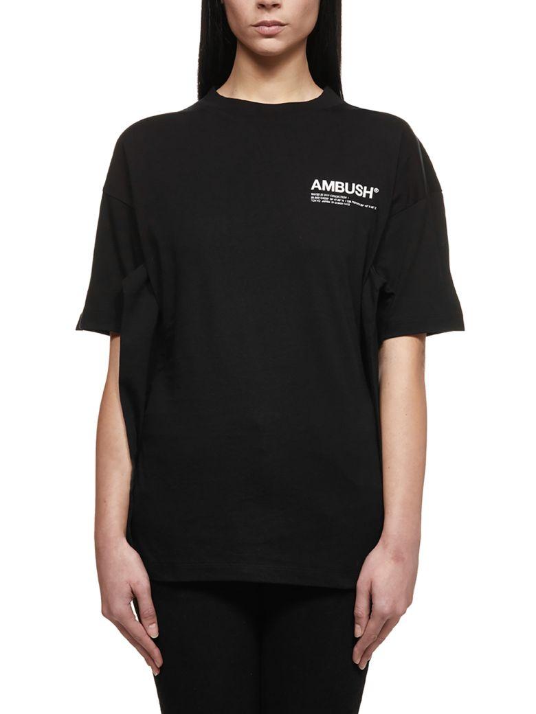 AMBUSH Logo Print Hoodie - Nero bianco