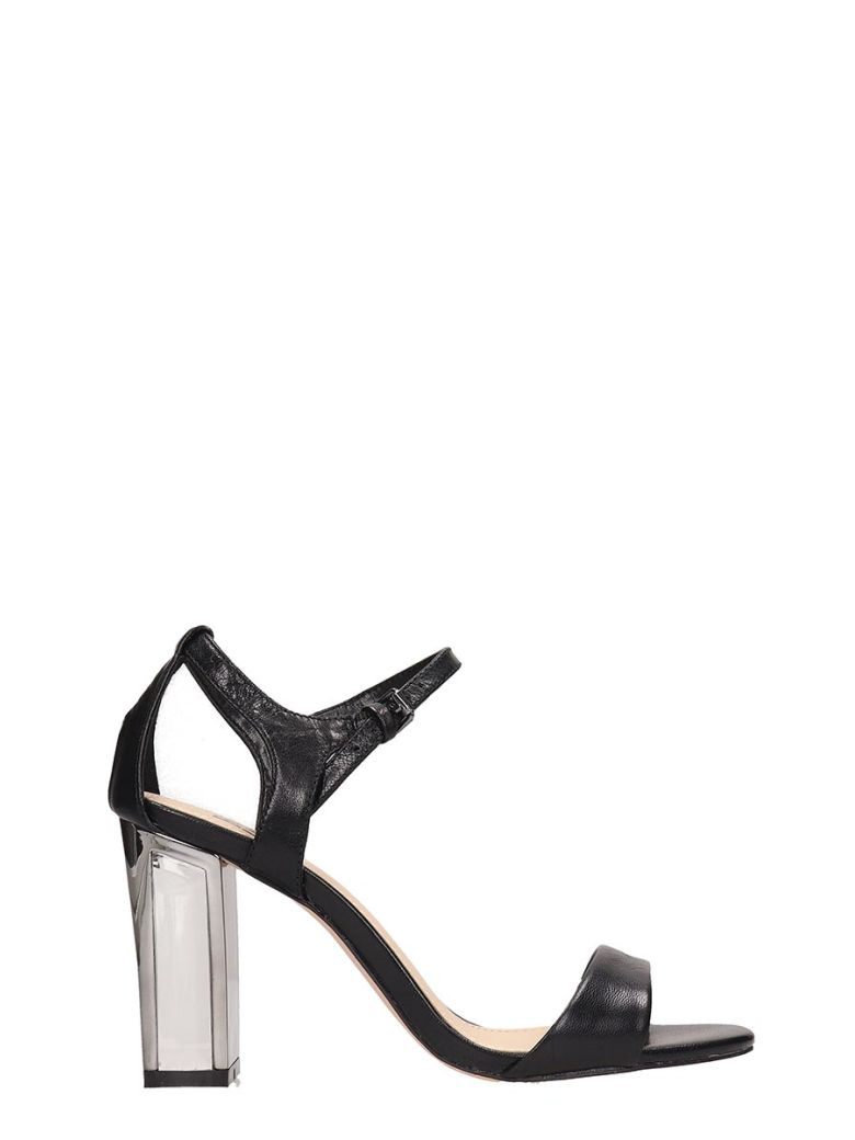 Bibi Lou Black Leather Sandals - black