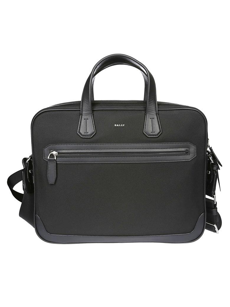 Bally Logo Briefcase - Black