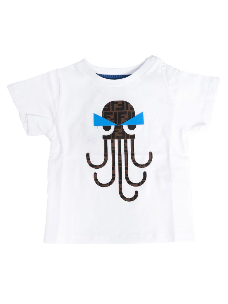Fendi Kids Double F Octopus Print T-shirt