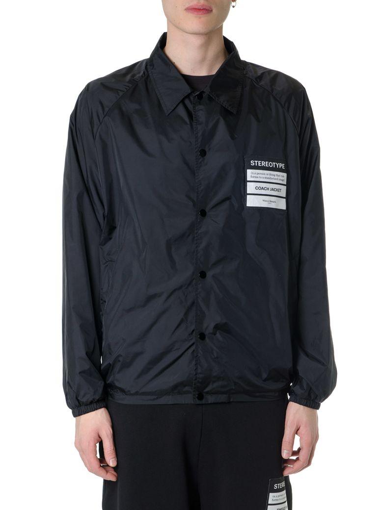 Maison Margiela Stereotype Black Nylon Coach Jacket - Black