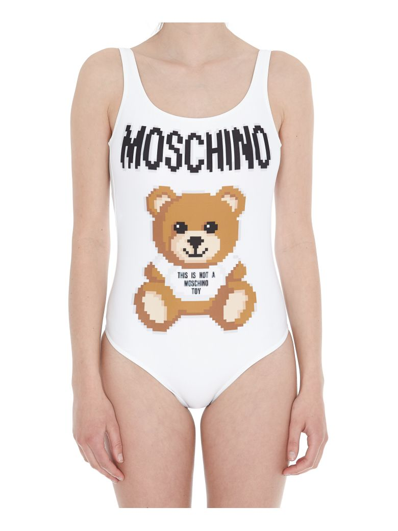 Moschino Pixel Capsule Collection Swimsuit - White