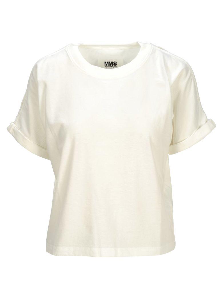 MM6 Maison Margiela Mm6 Mm6 Cut-outs Details T-shirt - WHITE