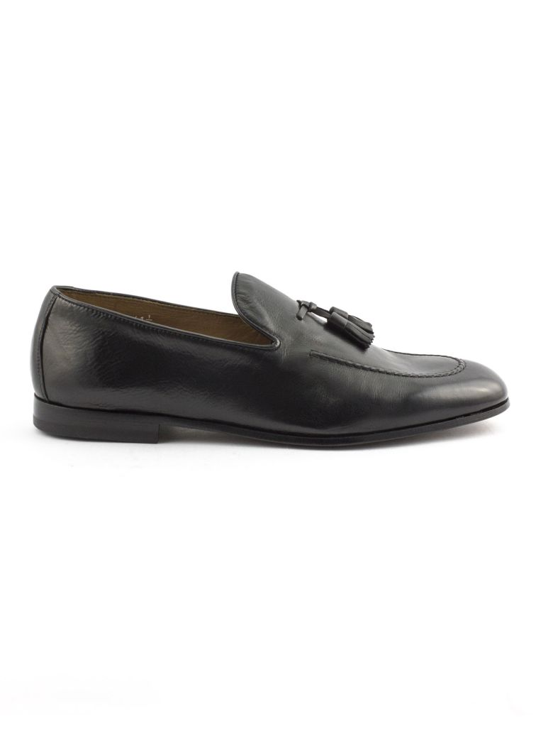 Doucal's Black Soft Leather Loafer - Nero