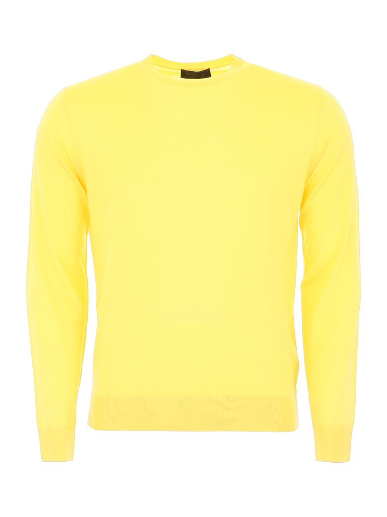 Prada Brushed Wool Pullover - GIALLO (Yellow)