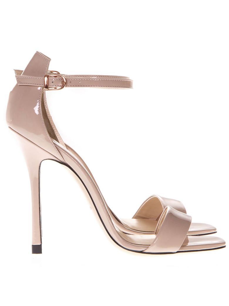 Marc Ellis Powder Patent High  Leather Sandals - Powder
