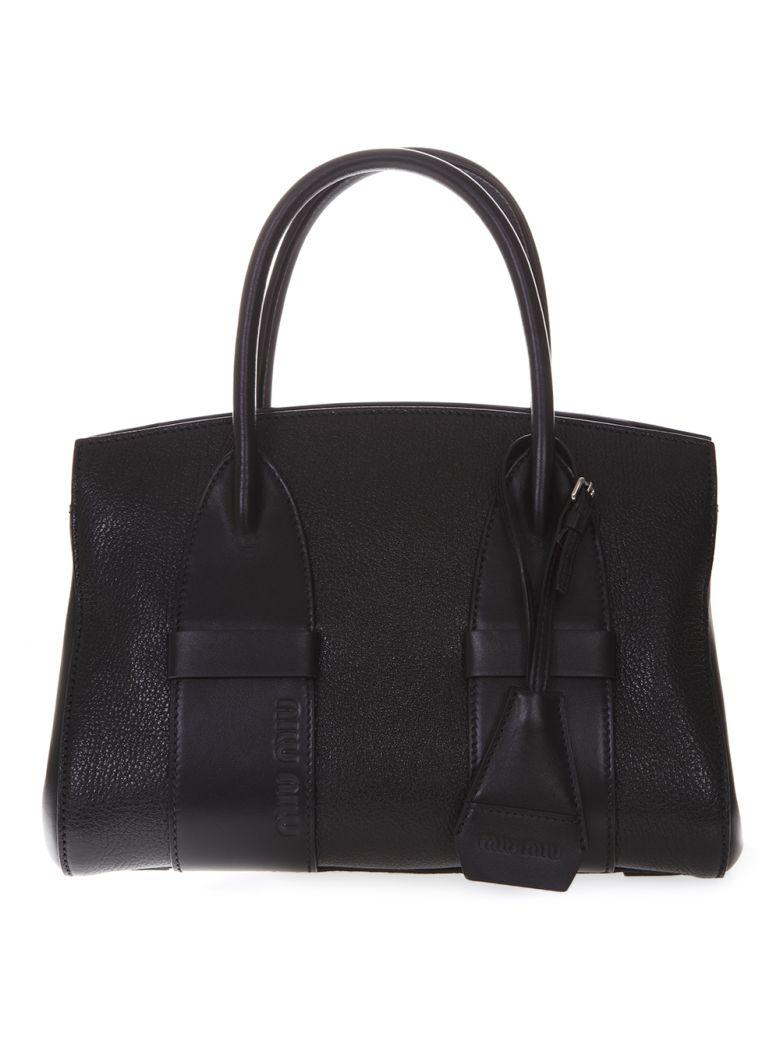 415ffe06fa0 Miu Miu Miu Miu Black Madras Leather Small Handbag - Black ...