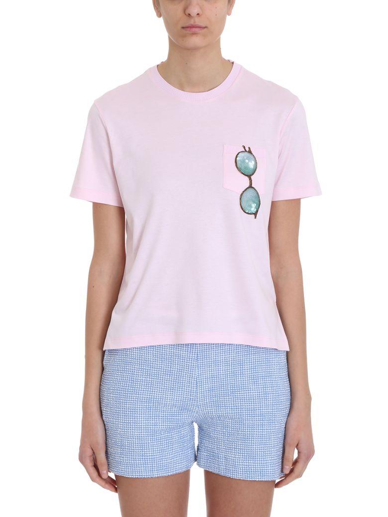 Thom Browne Trompe L'oiel Sunglasses Patch T-shirt - rose-pink