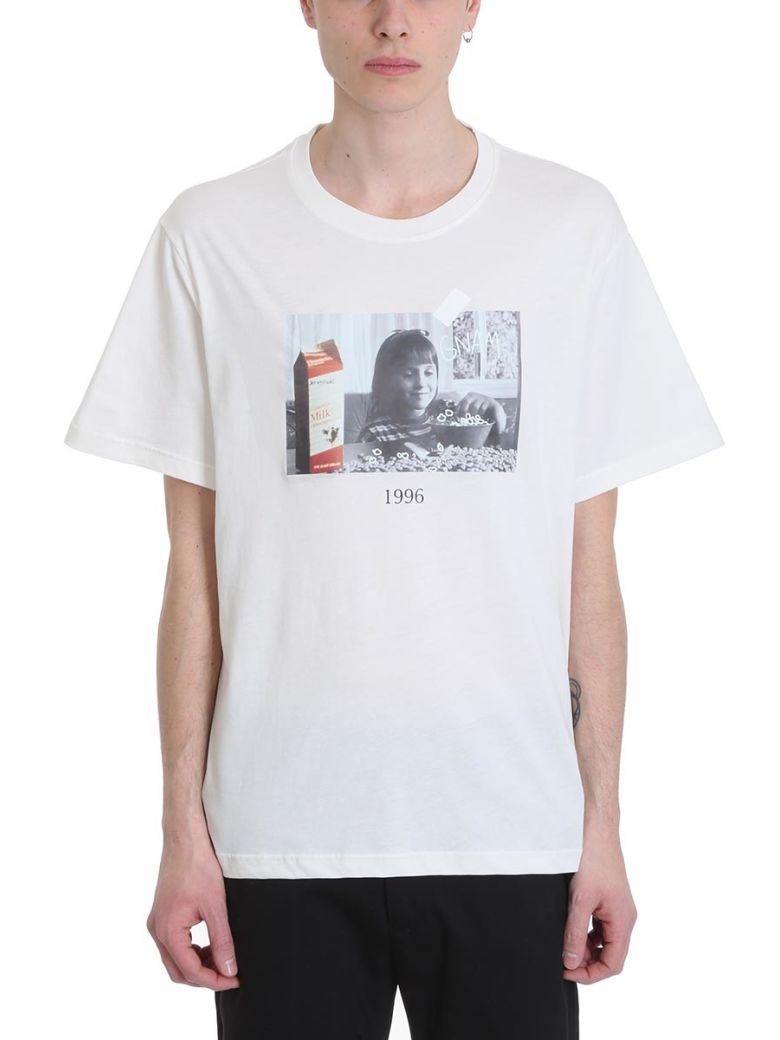 Throw Back Matilda White Cotton T-shirt - White