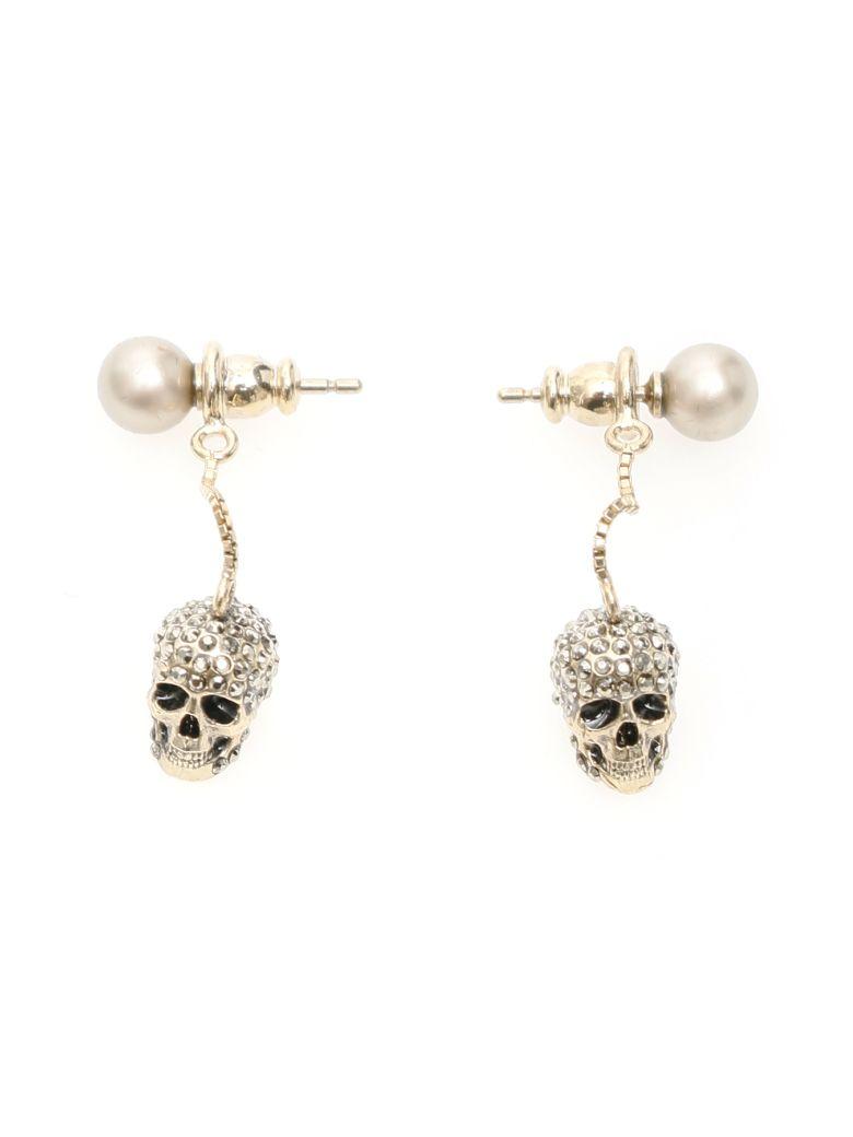 Alexander McQueen Pave Skull Earrings - MIX (Gold)