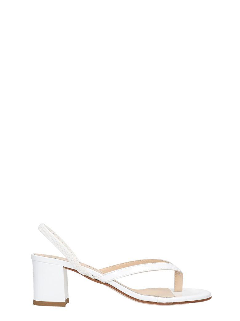 Fabio Rusconi Sandals In White Patent Leather - white