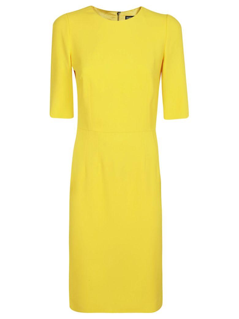 Dolce & Gabbana Quarter Sleeved Dress - Yellow