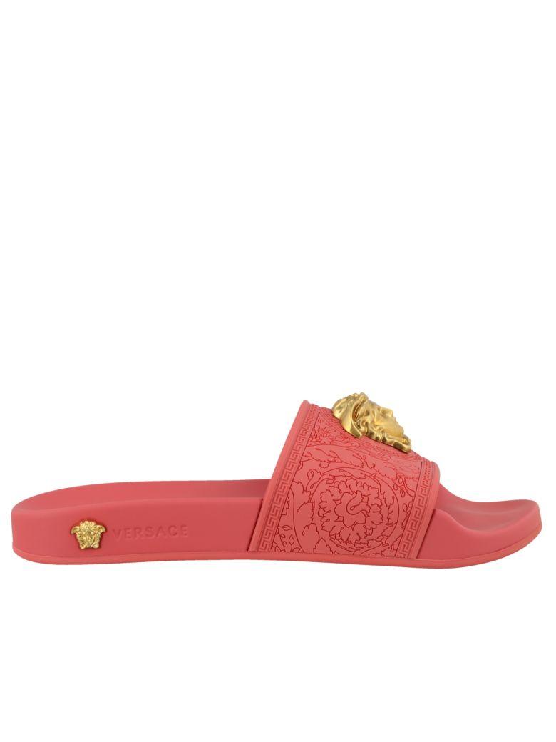 Versace Medusa Flat Sandals - Pink