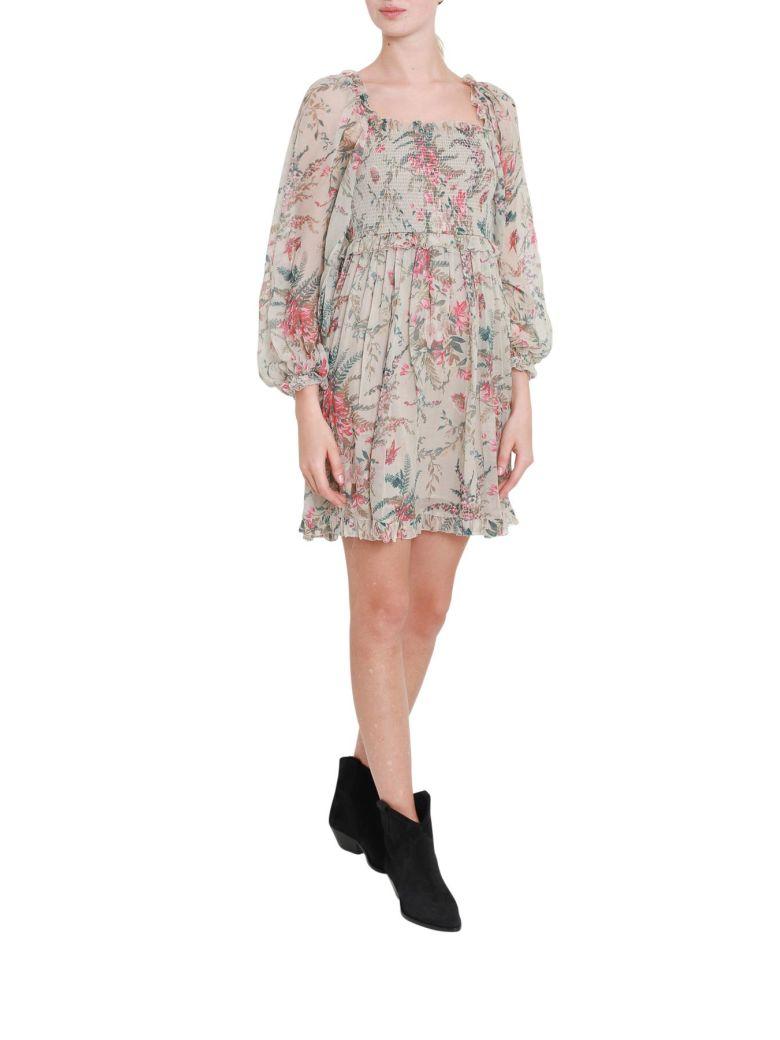 Zimmermann Floral Printed Off-shoulder Short Dress - Multicolor