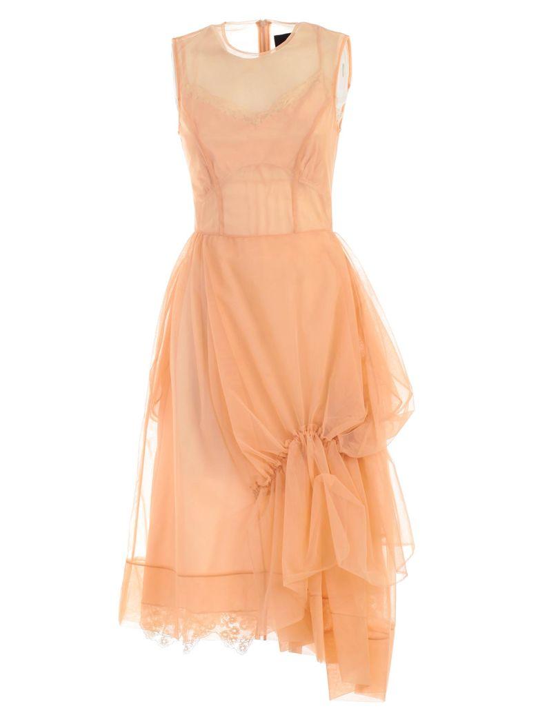 Simone Rocha Gathered Tulle Dress - Nude