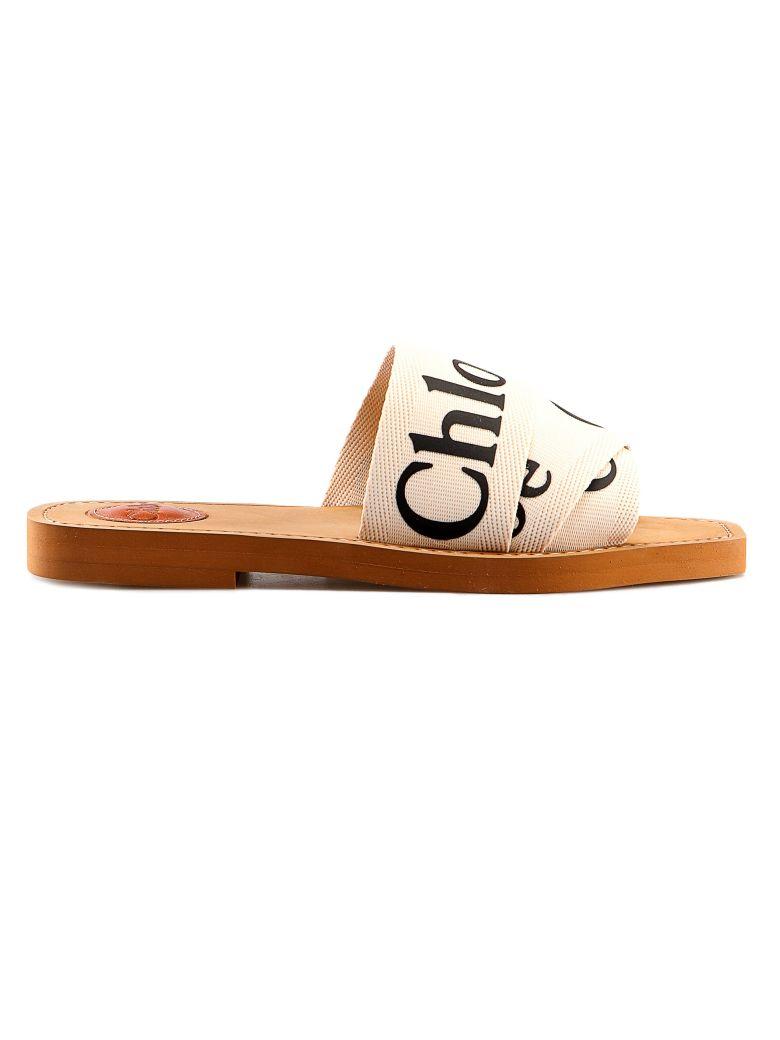 Chloé Flat Sandal - White