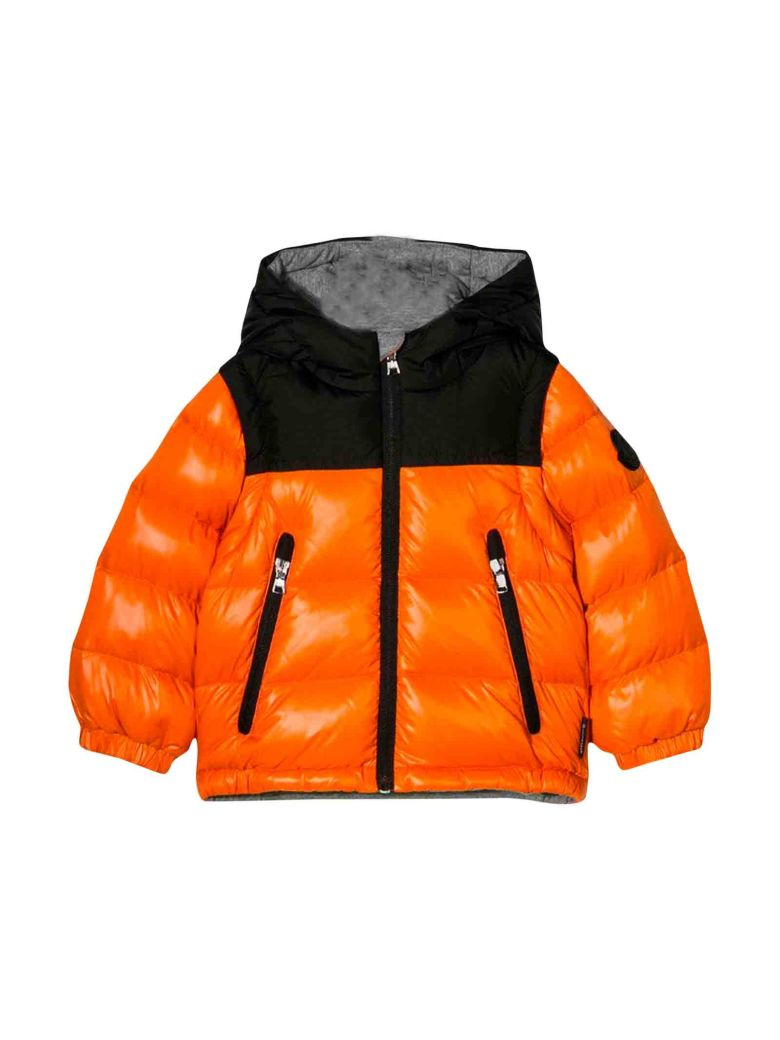 Moncler Orange Baby Down Jacket In Rosso