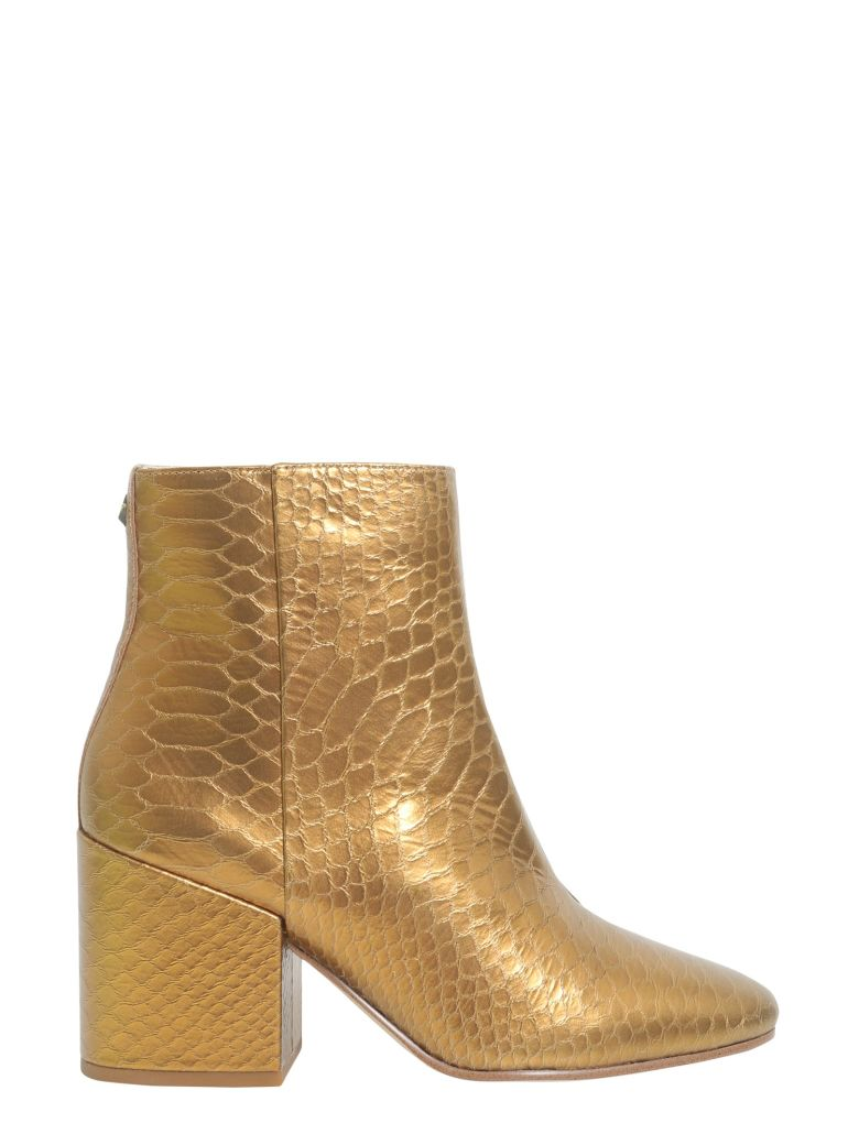 Sam Edelman Snake Printed Ankle Boots - Gold