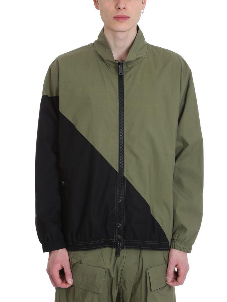 Ben Taverniti Unravel Project Green/black Cotton Jacket - Green