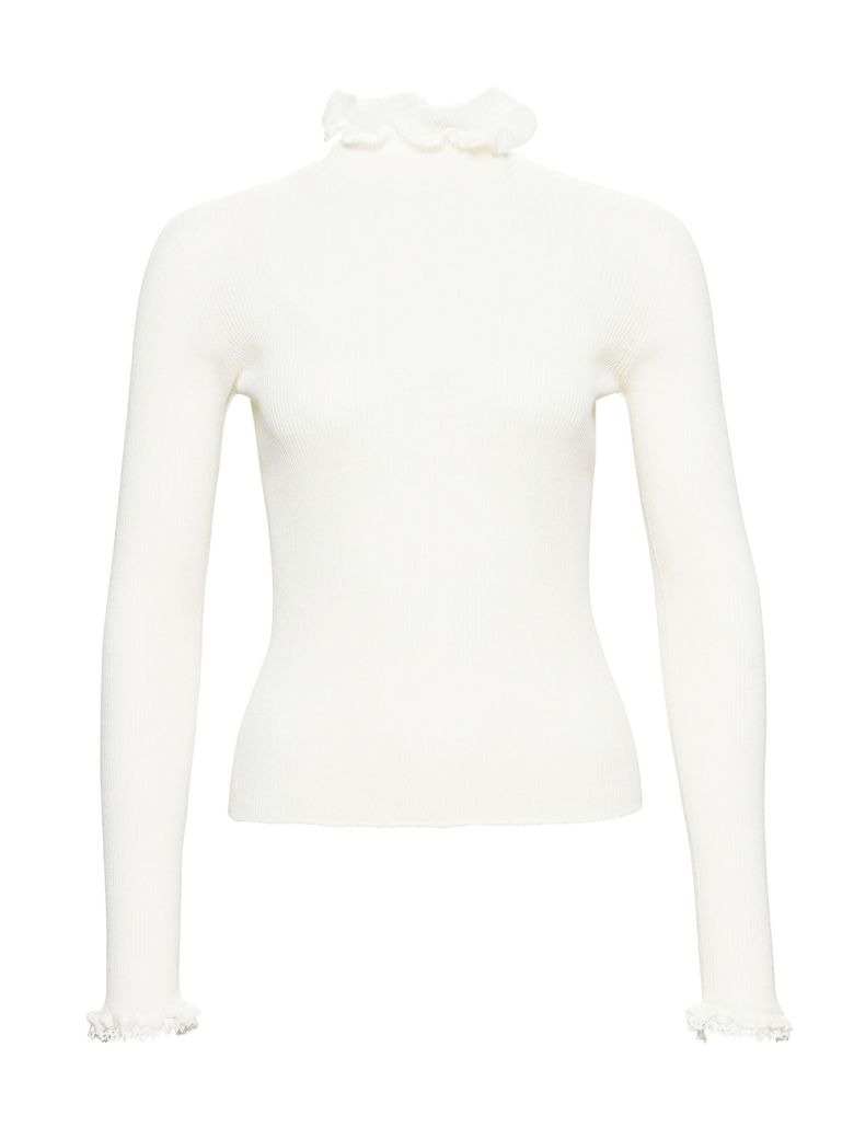 Philosophy di Lorenzo Serafini Ribbed High Neck Sweater - White