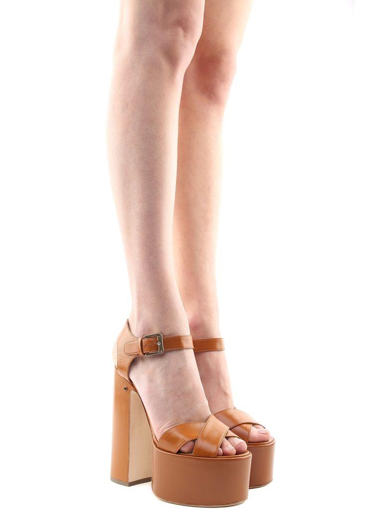 Laurence Dacade Rosella Leather Platform Sandals - Cognac