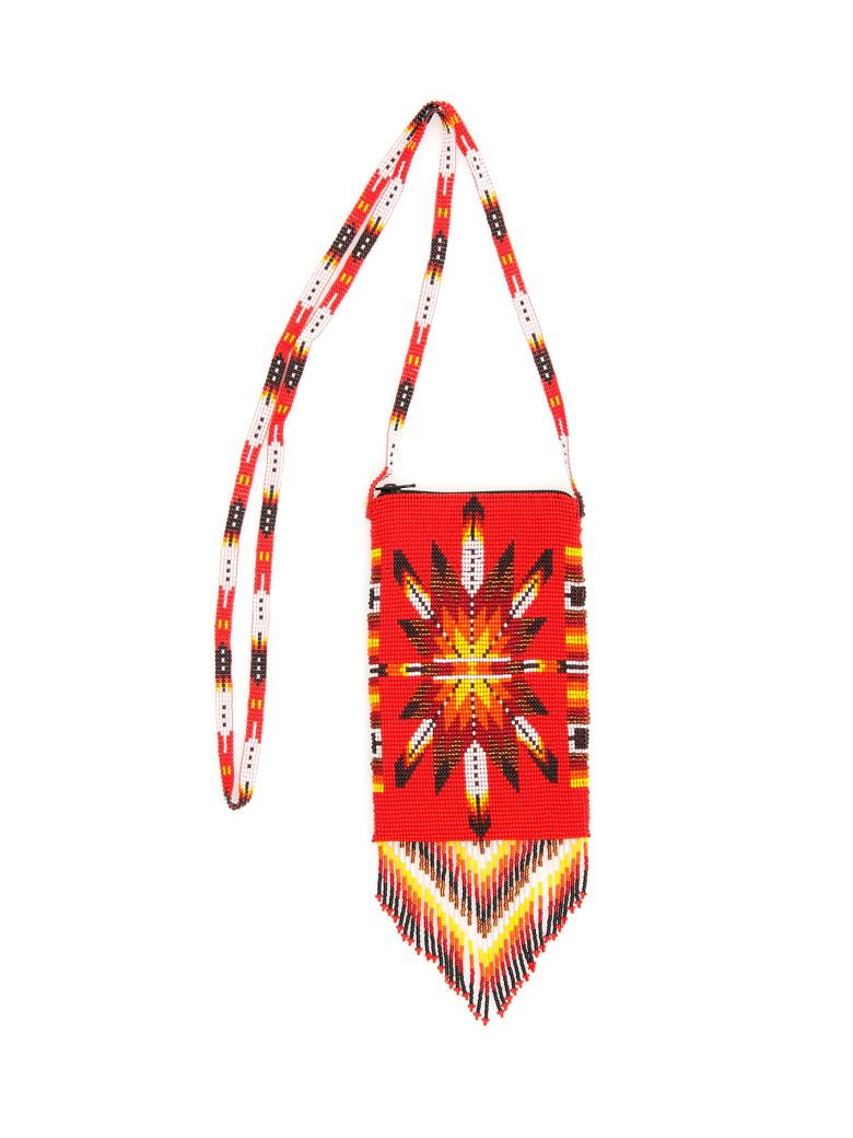 Jessie Western Small Beaded Bag - MULTICOLOR (Red)
