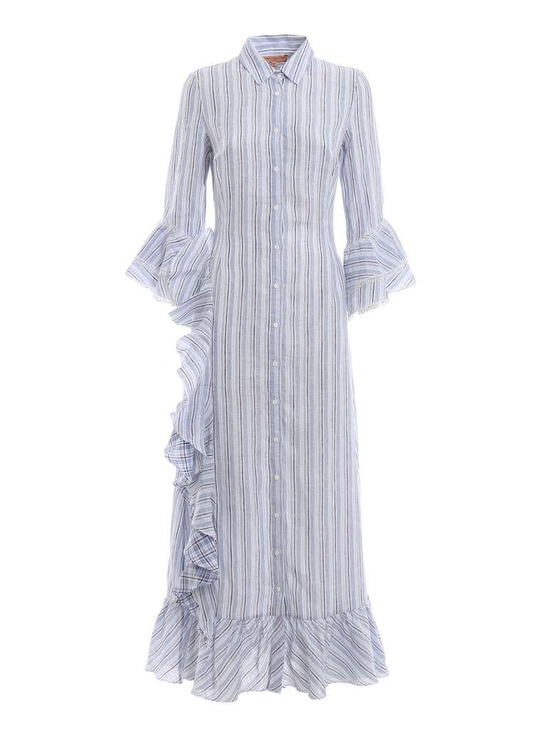 79d198f8f016 Ermanno Scervino Ermanno Scervino Striped Shirt Dress - Basic ...